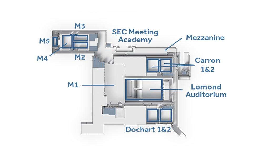 Floorplans, Capacities & Dimensions | Organise | SEC, Glasgow